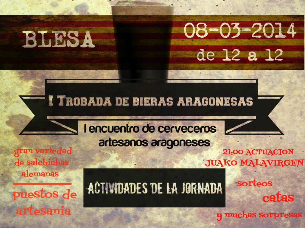 Primer encuentro de Bieras Aragonesas en Blesa: la oportunidad de conocer las cervezas artesanas de Aragón