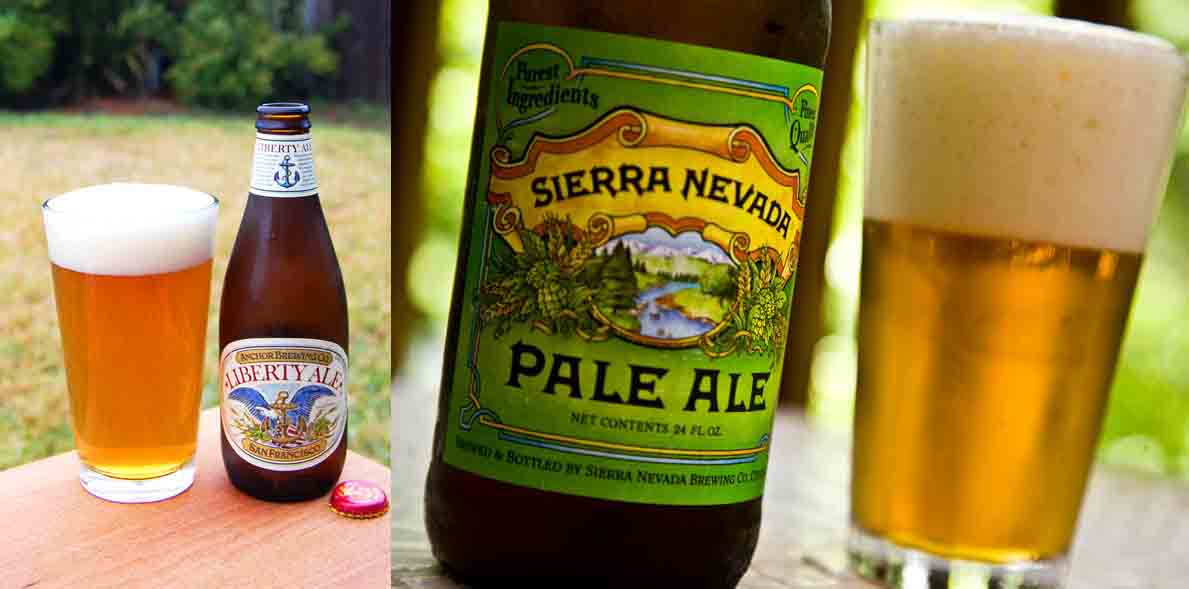Dos cervezas con lúpulo Cascade