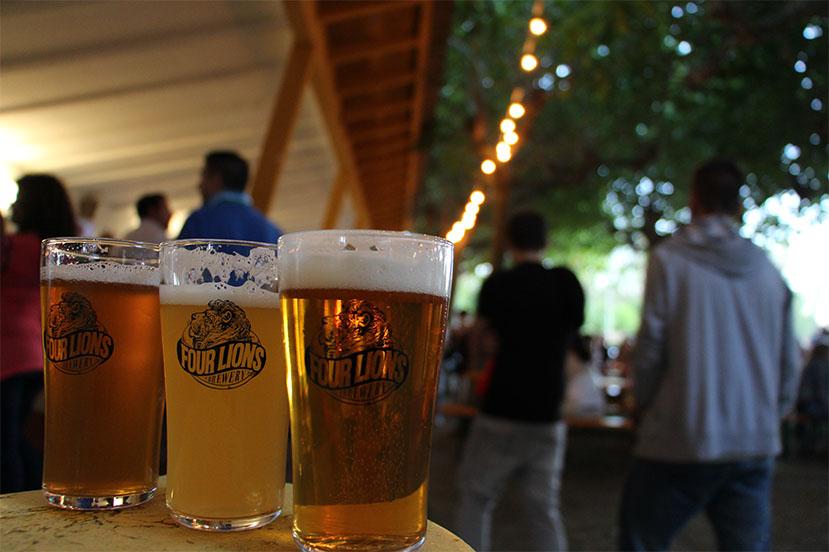 Las cervezas de Four Lions brewery