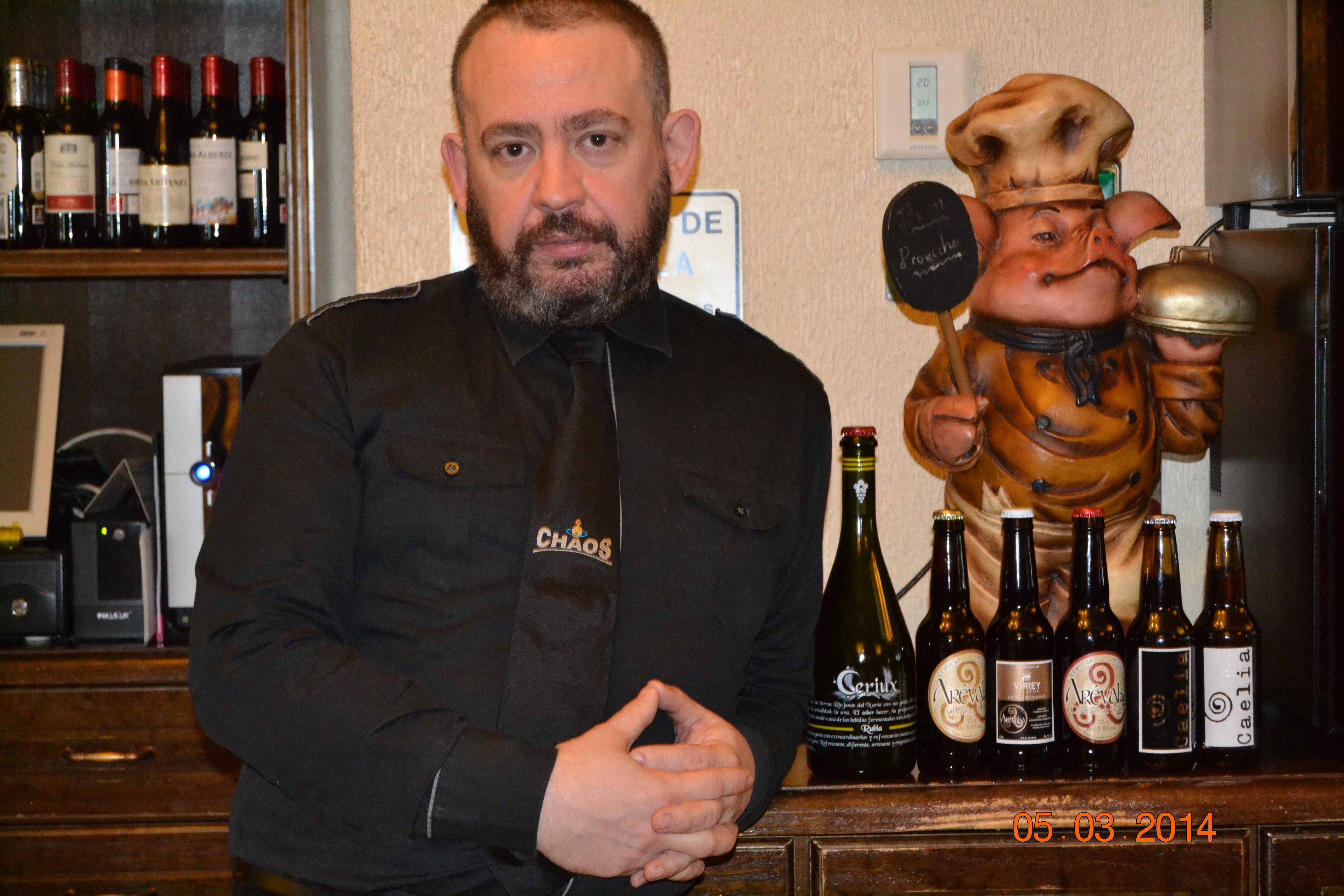 """César P. Martínez: """"Hacen falta verdaderos amantes de las cervezas, sumilleres a los que la cerveza les emocione y les subyugue"""""""