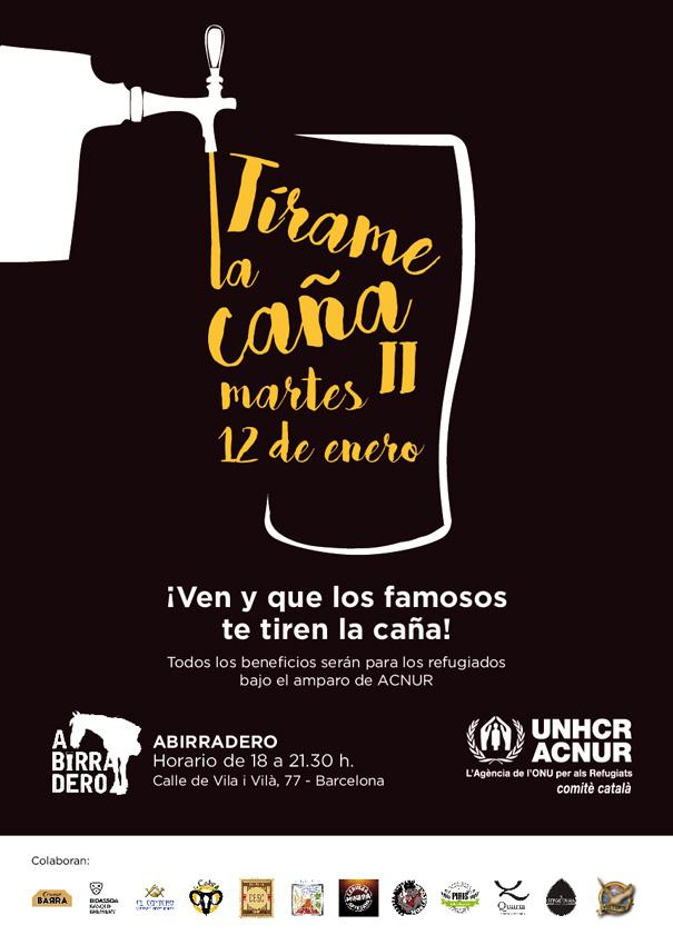 Tírame la Caña: Cervezas solidarias para contribuir a la crisis de refugiados