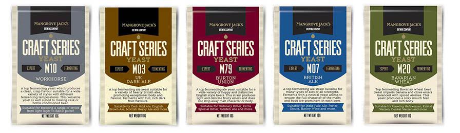 Guía de uso de las levaduras Mangrove Jack's por estilos de cerveza
