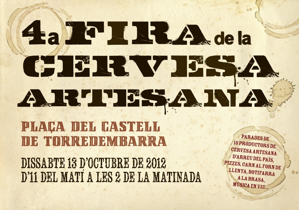 4ª Feria de Cerveza Artesana en Torredembarra (Tarragona) 13 de Octubre